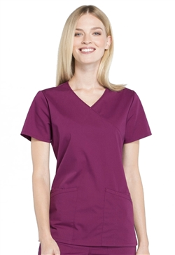 Professionals Workwear Women's Mock Wrap Cherokee