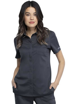 Revolution Workwear Hidden Snap Front Collar Shirts #WW669