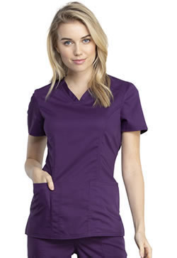 Revolution Workwear Women's V-Neck Tops #WW741AB