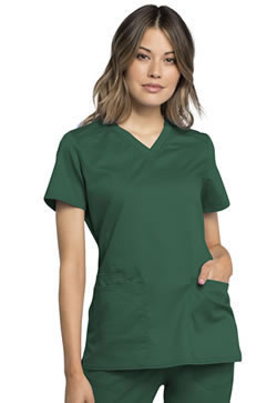Revolution Workwear Women's V-Neck Tops #WW770AB