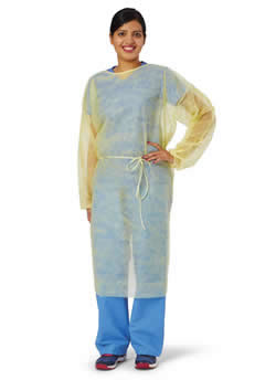 Medline Disposable SPP Lightweight Cover Isolation Gowns with Full Back Qty. 10