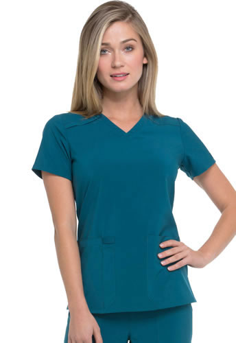 Dickies EDS Essentials Women's V-Neck Top #DK615