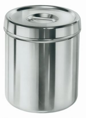 Dressing Jars, Stainless Steel: w/ Cover 4 3/4 qt, 6 3/4D x 7 3/4H