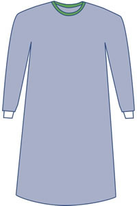 Sterile Non-Reinforced Eclipse Surgical Gowns 18/Case- Plus Sizes