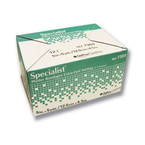 "Specialist Plaster Bandages X-Fast Setting 5""x5yds Bx/12"