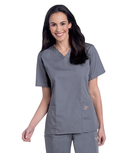 Scrubzone Women's 3 Pocket V-Neck Scrub Tops #70221