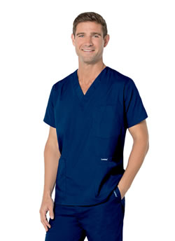 Landau Men's 5 Pocket Scrub Top #7489