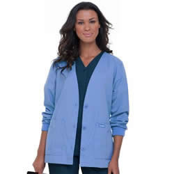 Landau Women's Cardigan Warm-up Medical Scrub Jacket #7535