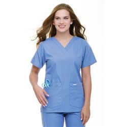 Landau Women's V-Neck Medical Scrub Top #8219