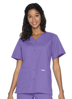 Landau Women's Snap Front Medical Scrub Top #8232