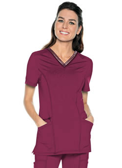 Urbane Impulse Women's Extreme Stretch V-Neck Tops #9105