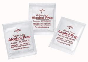 Alcohol Prep Pads and Swabsticks  Medium Sterile  Qty. 3000