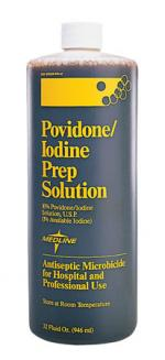 Povidone Iodine Solutions  8 oz  Qty. 24