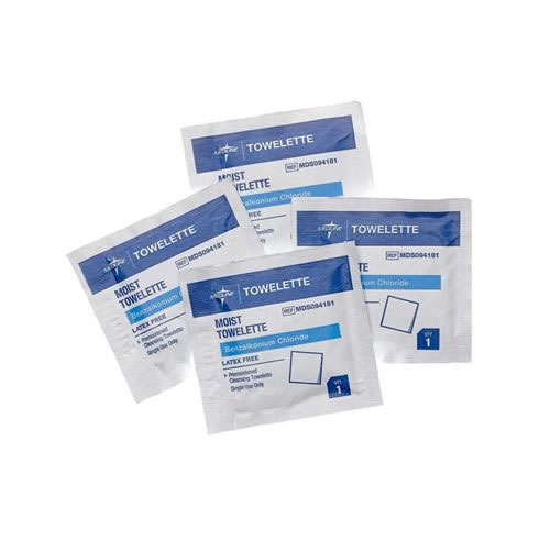 Antiseptic Towelettes  Benz. Chlor. Towelettes  5 1 2  x 8   BZK 1 250 - Contains No Alcohol  Qty. 1000