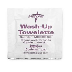 Antiseptic Towelettes  Wash Up Towelettes  5 1 2  x 8   BZK 1 750 and 5% Alcohol  Qty. 1000