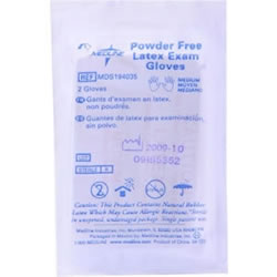 Medline Sterile PF Latex Exam Gloves