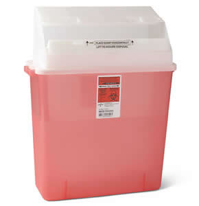 Biohazard Patient Room Sharps Containers: 3 Gallon Qty. 12