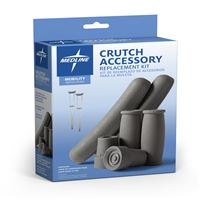 Crutch Accessories  Crutch Kit Gray  Qty. 6