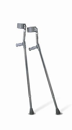 Forearm Crutches  Adult  5'0 -6'2   Qty. 1 pr