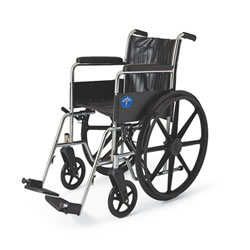 Excel 2000 Wheelchairs: Permanent Full-Length Arms, Fixed Footrests, Black