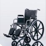Excel 2000 Wheelchairs: Permanent Full-Length Arms, Swing-Away Detachable Footrests, Black