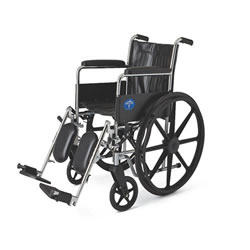 Excel 2000 Wheelchairs: Permanent Full-Length Arms, Swing-Away Detachable Elevating Legrests, Black