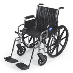 Excel 2000 Wheelchairs  Removable Desk-Length Arms  Swing-Away Detachable Footrests  Black