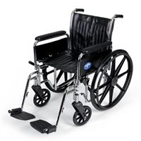 Excel 2000 Wheelchairs  Removable Full-Length Arms  Swing-Away Detachable Footrests  Black