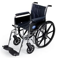 Excel Narrow Wheelchair  Removable Full-Length Arms  Swing-Away Detachable Footrests