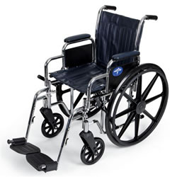 Excel 2000 Wheelchairs  Removable Desk-Length Arms  Swing-Away Detachable Footrests  Navy