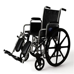 Excel 2000 Wheelchairs  Removable Desk-Length Arms  Swing-Away Detachable Elevating Legrests  Black