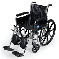 Excel 2000 Wheelchairs  Removable Full-Length Arms  Swing-Away Detachable Elevating Legrests