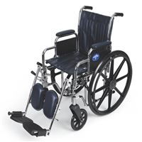 Excel Narrow Wheelchair  Removable Desk-Length Arms  Swing-Away Detachable Elevating Legrests