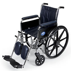 Excel Narrow Wheelchair  Removable Full-Length Arms  Swing-Away Detachable Elevating Legrests