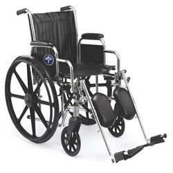 Excel Extra-Wide Wheelchairs  20  Wide  Removable Desk-Length Arms  Swing-Away Detachable Elevating Footrests   Black