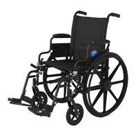 Excel K4 Lightweight Wheelchair  18  Swing-Back Desk Length Arms  Swing-Away Detachable Footrests  Quick Release Axles