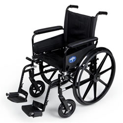 "Medline K4 Lightweight Wheelchair-18"" Swing Away Footrest"