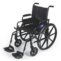 Excel K4 Lightweight Wheelchair  22  Swing-Back Desk Length Arms  Swing-Away Detachable Footrests