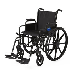 Excel K3 Lightweight Wheelchair  18  Removable Desk-Length Arms  Swing-Away Detachable Footrests