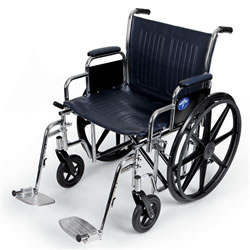 Excel Extra-Wide Wheelchairs  20  Wide  Removable Desk-Length Arms  Swing-Away Detachable Footrests