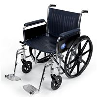 Excel Extra-Wide Wheelchairs  20  Wide  Removable Full-Length Arms  Swing-Away Detachable Footrests