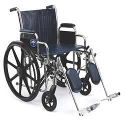 Excel Extra-Wide Wheelchairs  20  Wide  Removable Desk-Length Arms  Swing-Away Detachable Elevating Legrests