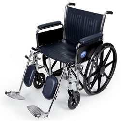 Excel Extra-Wide Wheelchairs  20  Wide  Removable Full-Length Arms  Swing-Away Detachable Elevating Legrests