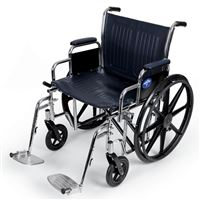 Excel Extra-Wide Wheelchairs  22  Wide  Removable Desk-Length Arms  Swing-Away Detachable Footrests