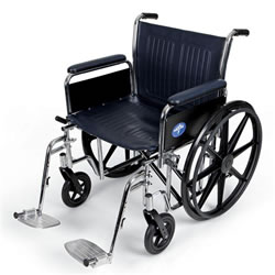 Excel Extra-Wide Wheelchairs  22  Wide  Removable Full-Length Arms  Swing-Away Detachable Footrests