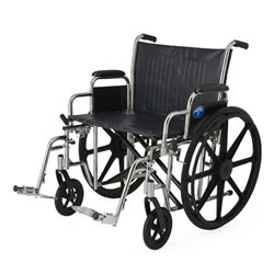Excel Extra-Wide Wheelchairs  24  Wide  Removable Desk-Length Arms  Swing-Away Detachable Footrests