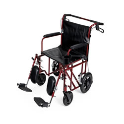 Ultralight Bariatric Transport Chair  Permanent full length arms