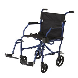 Ultralight Transport Wheelchair  Blue