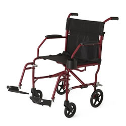 Ultralight Transport Wheelchair  Red