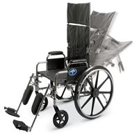 Excel Reclining Wheelchairs  20  Reclining Wheelchair with Elevating  Swing-Away Footrests w Anti-Tippers 350 lb. Capacity